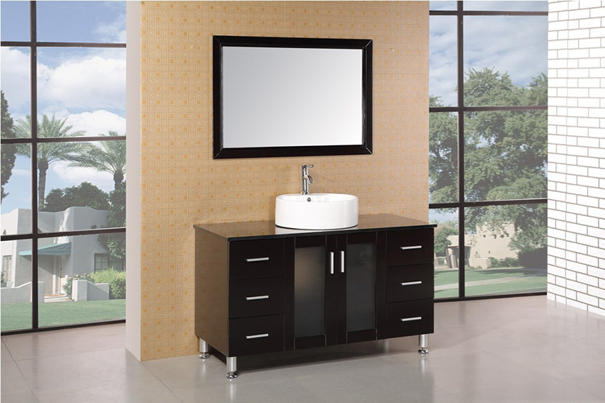 "Malibu 48"" Single Sink Vanity Set in Espresso"