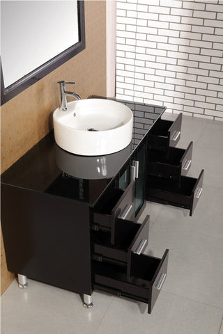 "Image of Malibu 48"" Single Sink Vanity Set in Espresso"