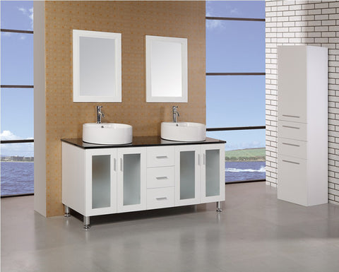 "Image of Malibu 60"" Double Sink Vanity Set in White"