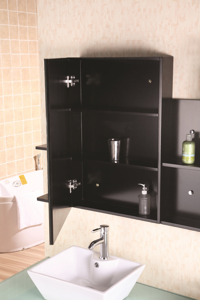 "Portland 72"" Double Sink - Wall Mount Vanity Set in Espresso"