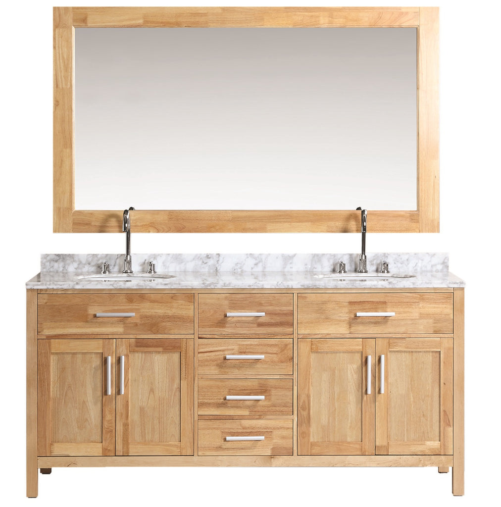 "London 72"" Double Sink Vanity Set in Oak Color"