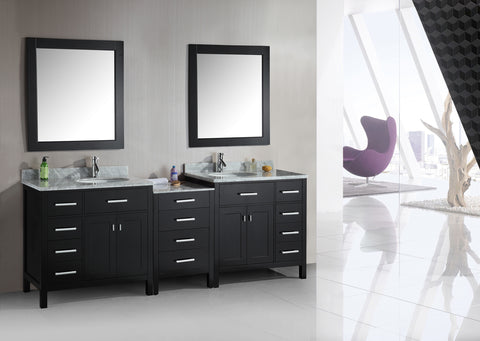 "Image of London 92"" Double Sink Vanity Set in Espresso"