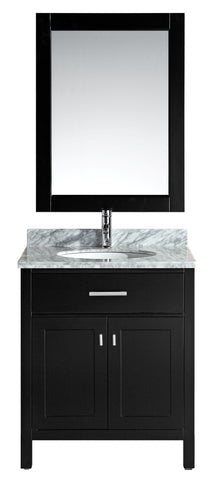 "Image of London 30"" Single Sink Vanity Set in Espresso"
