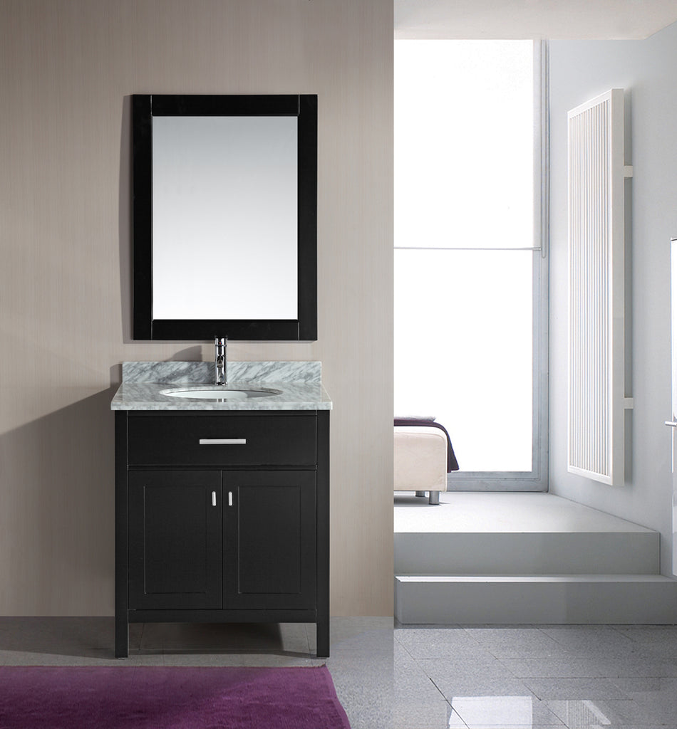 "London 30"" Single Sink Vanity Set in Espresso"