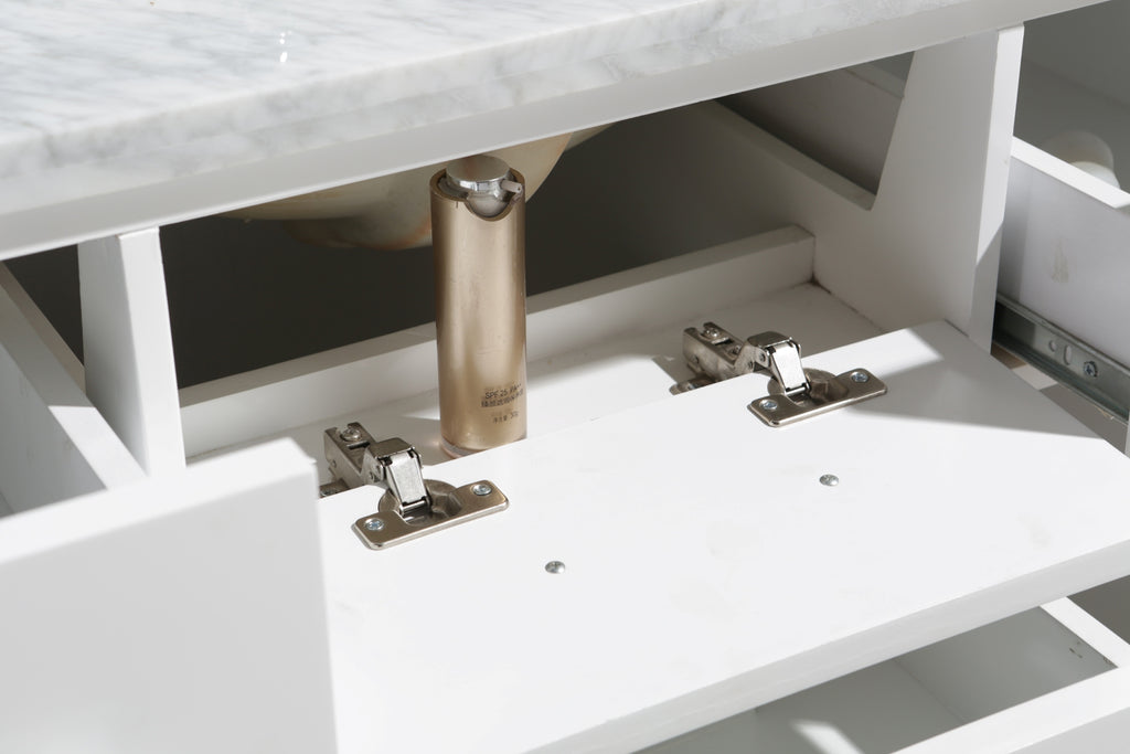 "London 42"" Single Sink Vanity Set in White Finish"