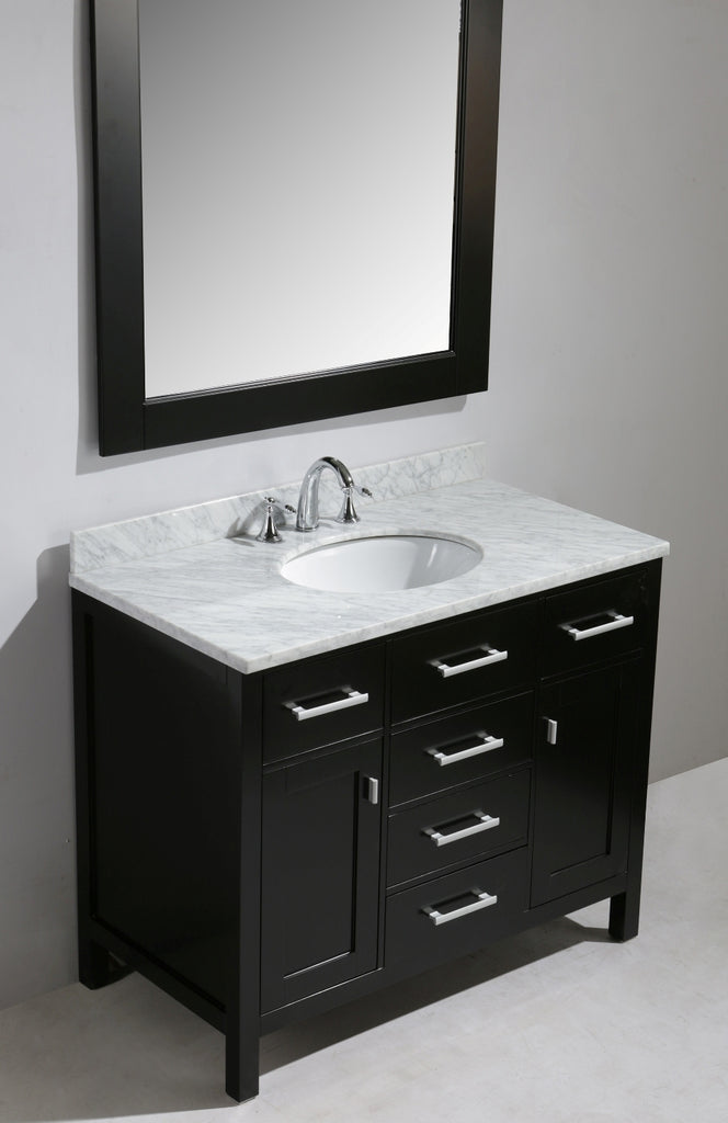 "London 42"" Single Sink Vanity Set in Espresso Finish"