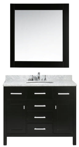 "Image of London 42"" Single Sink Vanity Set in Espresso Finish"