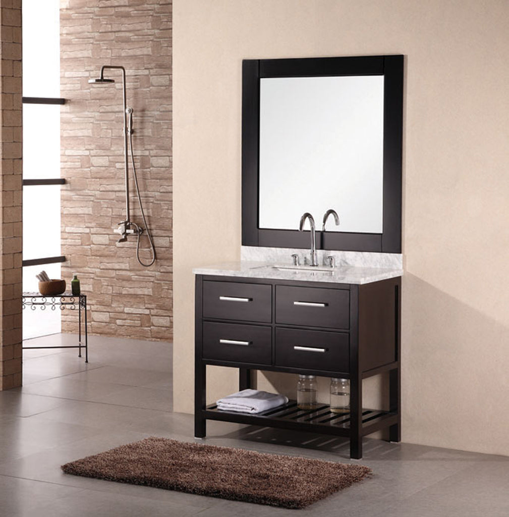 "London 36"" Single Sink Vanity Set in Espresso"