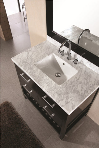 "Image of London 36"" Single Sink Vanity Set in Espresso"