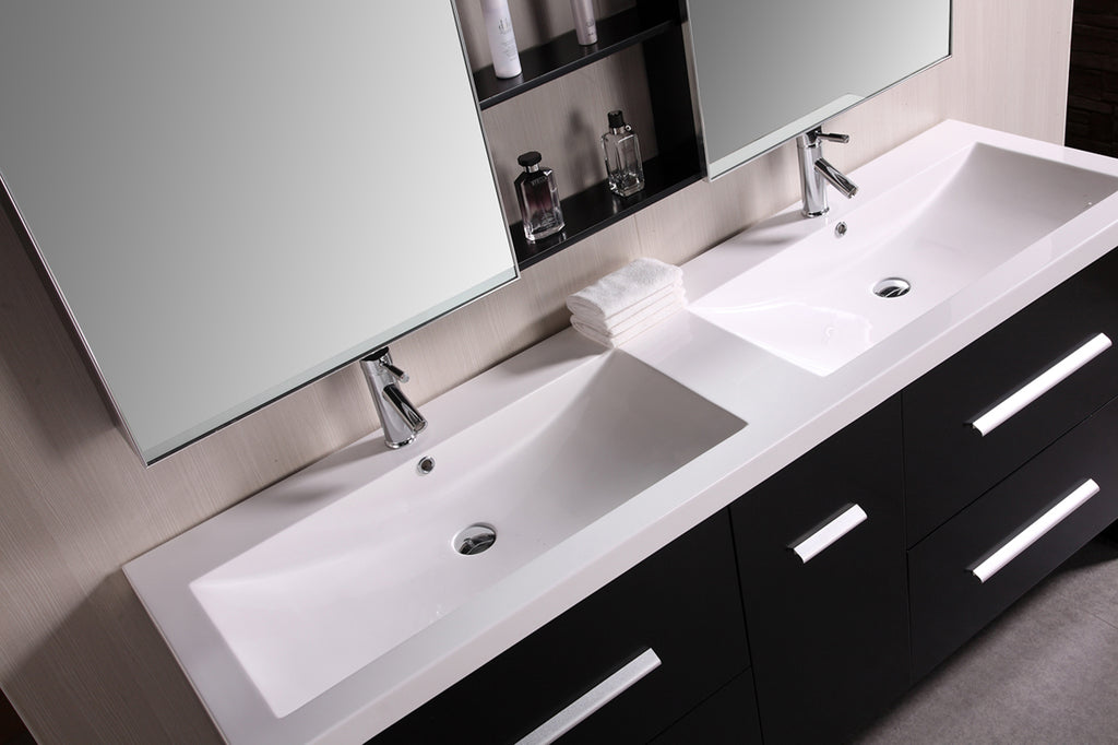 "Perfecta 63"" Double Sink Vanity Set in Espresso"