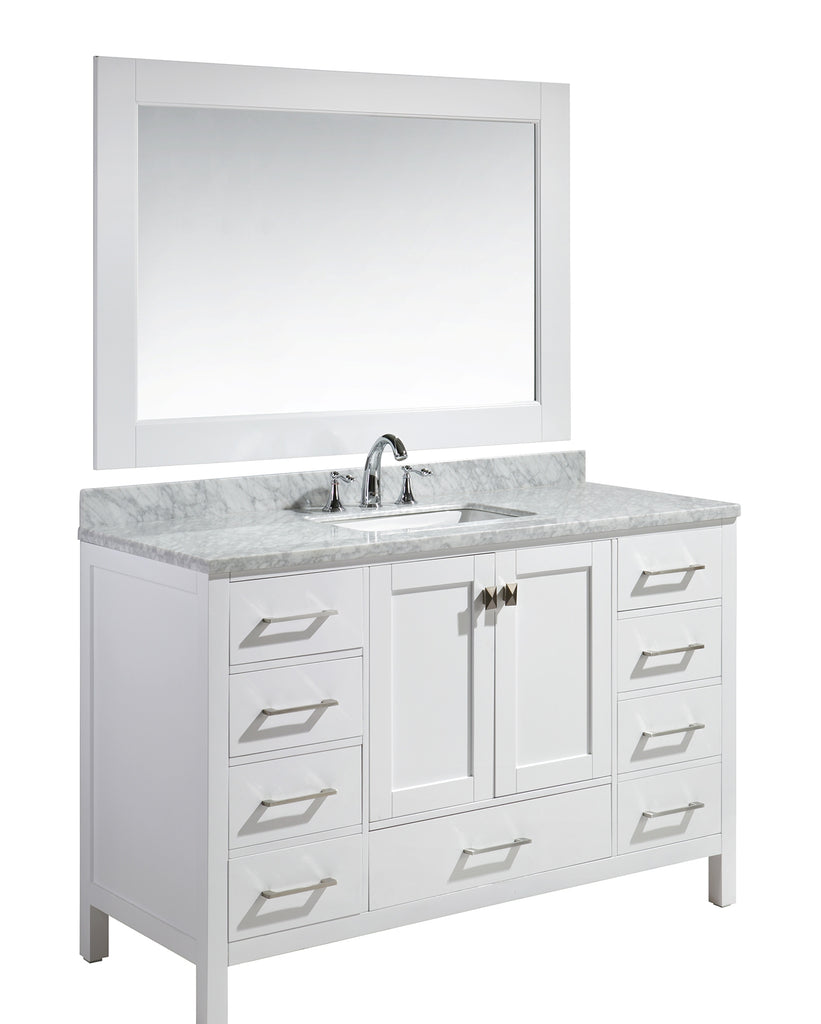 "London 54"" Single Sink Vanity Set in white Finish"