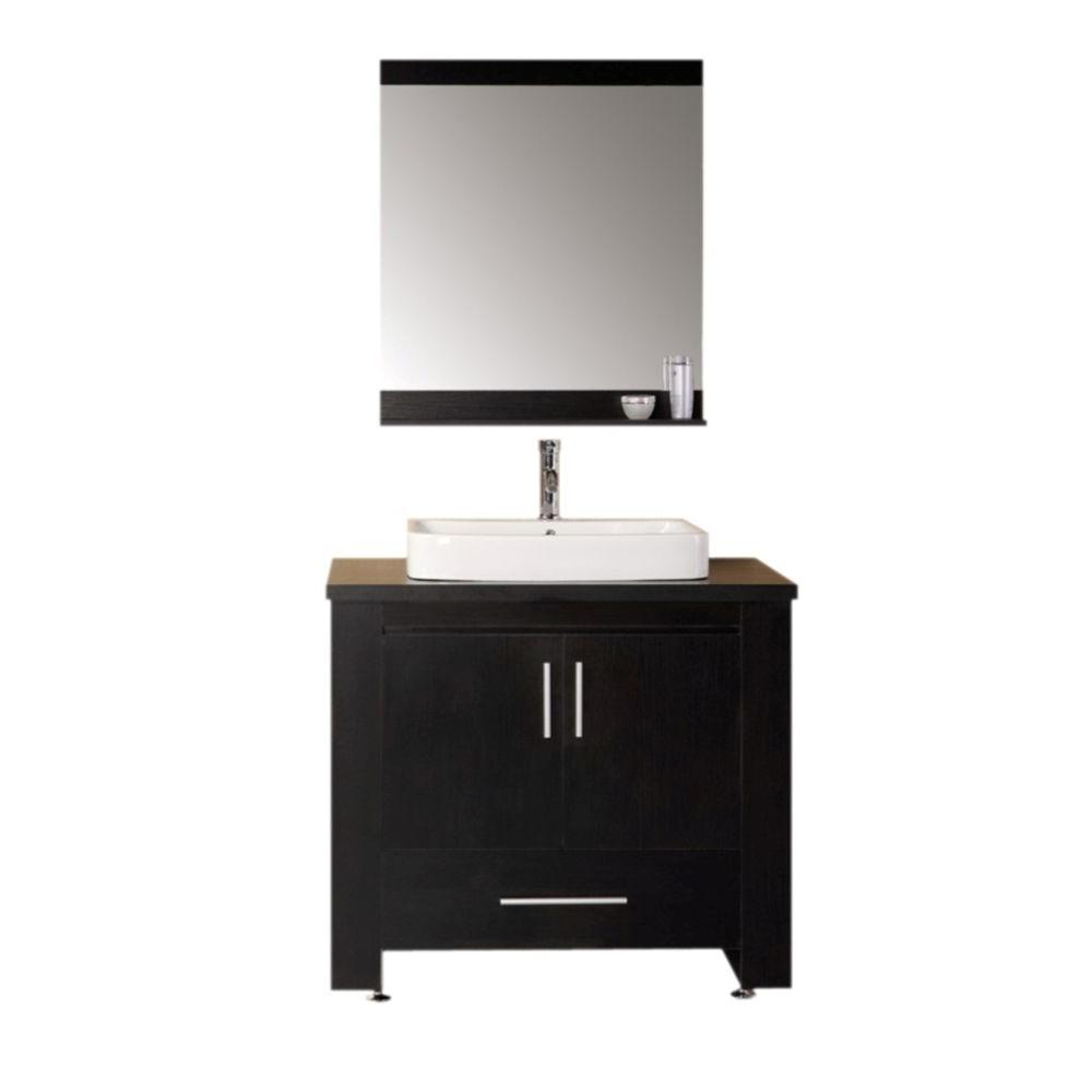 "Washington 36"" Single Sink Vanity Set in Espresso"