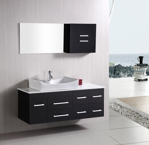 "Image of Springfield 53"" Single Sink - Wall Mount Vanity Set in Espresso"