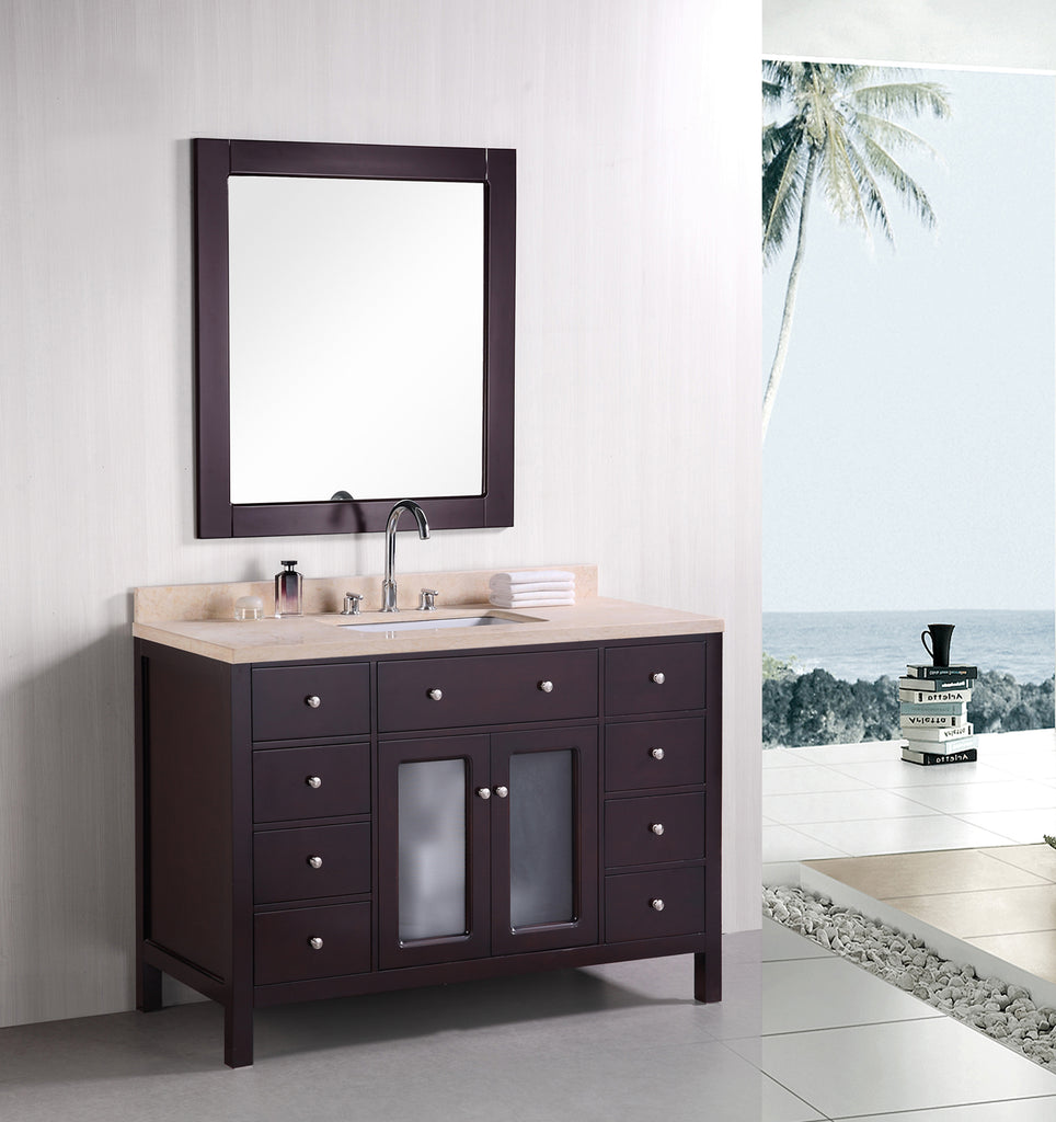 "Venetian 48"" Single Sink Vanity Set in Espresso"