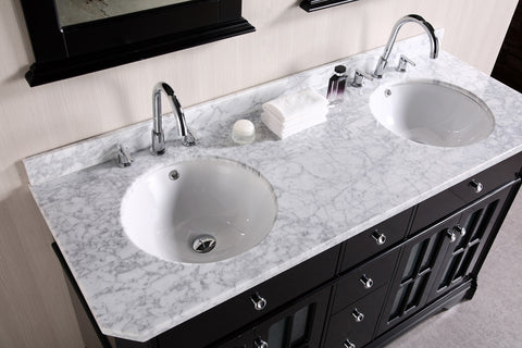 "Image of Imperial 60"" Double Sink Vanity Set in Espresso"