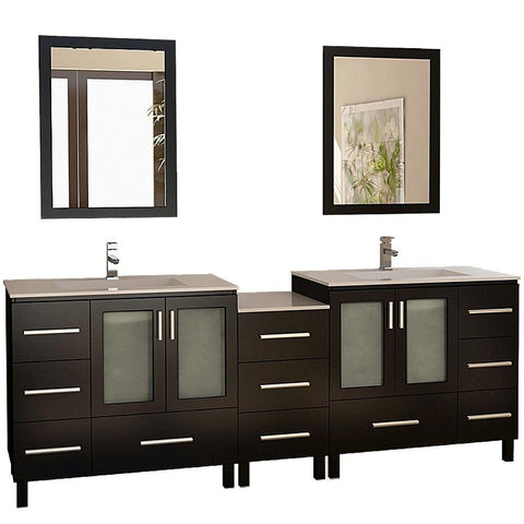 "Image of Galatian 88"" Double Sink Vanity Set in Espresso"