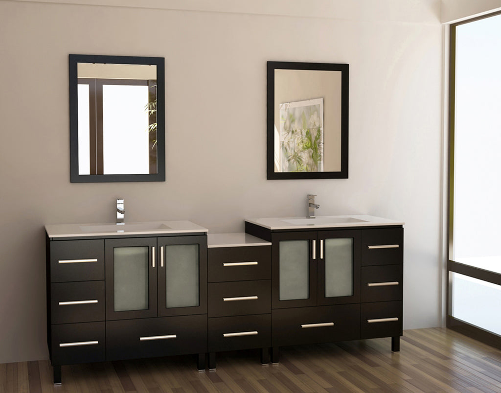 "Galatian 88"" Double Sink Vanity Set in Espresso"