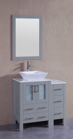 "Image of 24"" Bosconi AGR124SQCM Single Vanity"