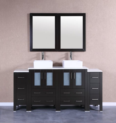 "Image of 72"" Bosconi AB224CBEPS2S Double Vanity"