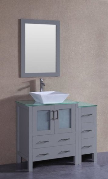 "42"" Bosconi AGR130SQCWG1S Single Vanity"