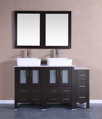"Image of 60"" Bosconi AB224RCCM1S Double Vanity"