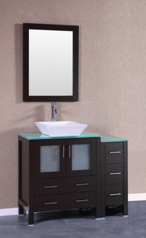 "Image of 42"" Bosconi AB130SQCWG1S Single Vanity"