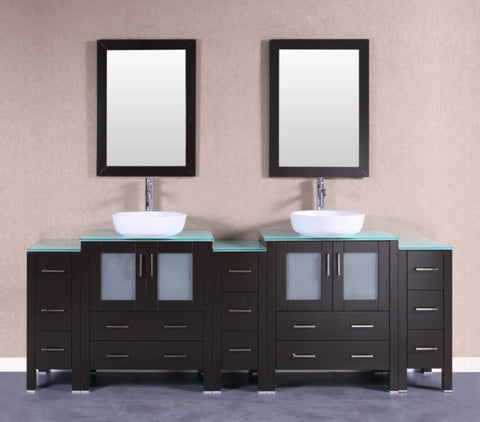 "Image of 96"" Bosconi AB230BWLCWG3S Double Vanity"