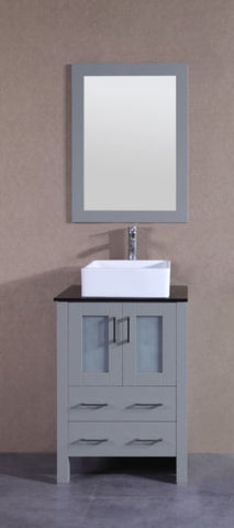 "24"" Bosconi AGR124CBEBG Single Vanity"