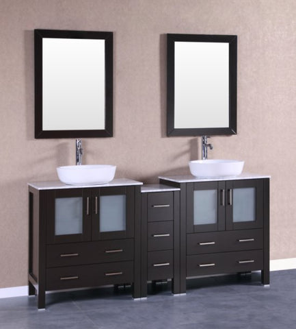 "Image of 72"" Bosconi AB230BWLCM1S Double Vanity"