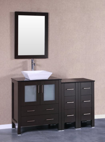 "Image of 54"" Bosconi AB130SQBG2S Single Vanity"