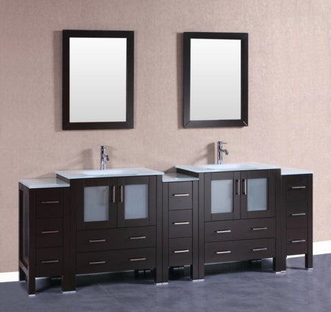 "Image of 96"" Bosconi AB230EWGU3S Double Vanity"