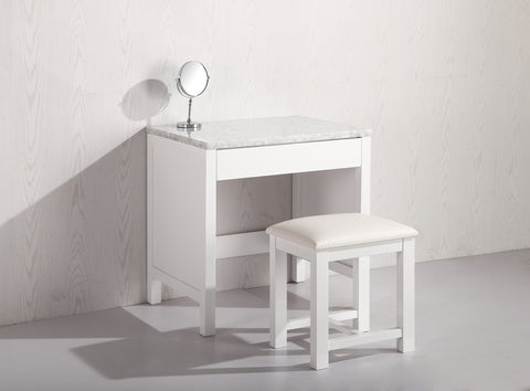 Image of Make-up table in White Finish