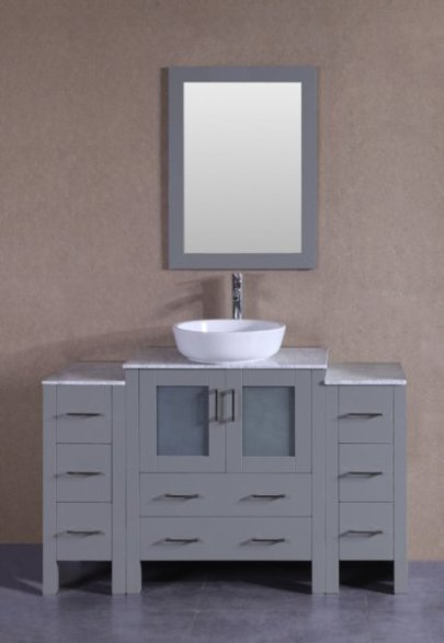 "54"" Bosconi AGR130BWLCM2S Single Vanity"