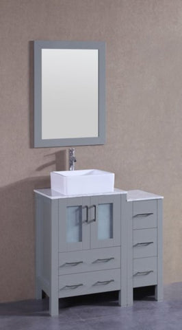 "Image of 36"" Bosconi AGR124CBECM1S Single Vanity"