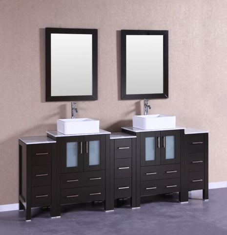 "Image of 84"" Bosconi AB224CBECM3S Double Vanity"