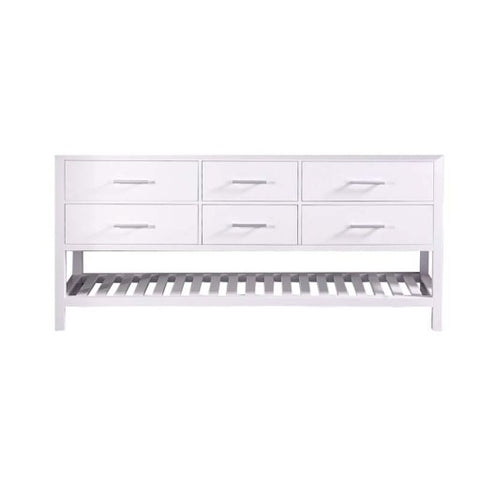 "London 72"" Double Sink Base Cabinet in White"