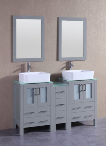 "Image of 60"" Bosconi AGR224RCCWG1S Double Vanity"
