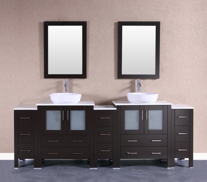 "96"" Bosconi AB230BWLPS3S Double Vanity"