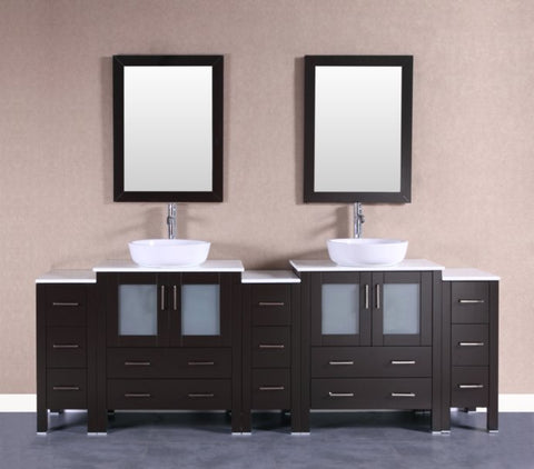 "Image of 96"" Bosconi AB230BWLPS3S Double Vanity"