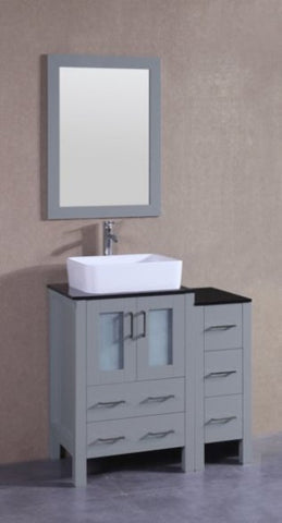 "Image of 36"" Bosconi AGR124RCBG1S Single Vanity"