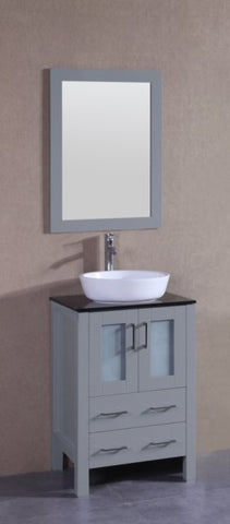 "24"" Bosconi AGR124BWLBG Single Vanity"