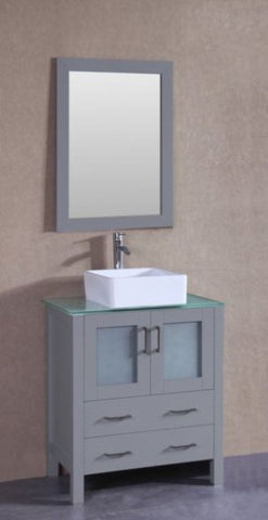 "Image of 30"" Bosconi AGR130CBECWG Single Vanity"