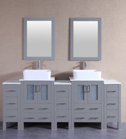 "Image of 84"" Bosconi AGR224RC3S Double Vanity"