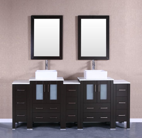 "Image of 84"" Bosconi AB224CBEPS3S Double Vanity"