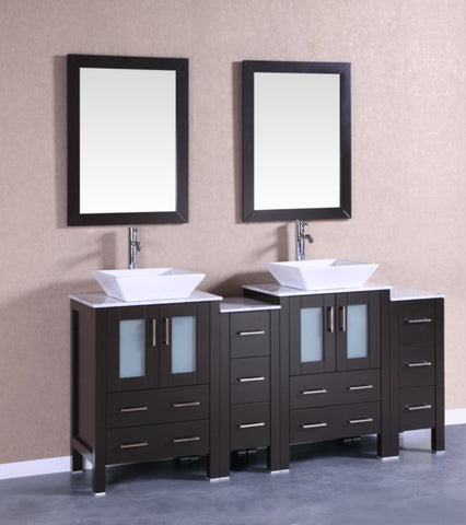 "Image of 72"" Bosconi AB224SQCM2S Double Vanity"