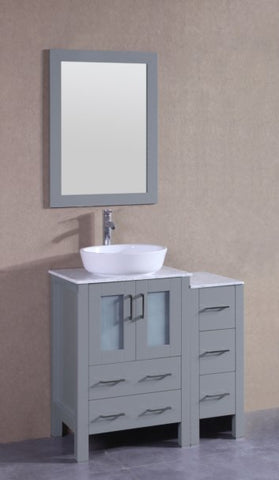 "Image of 36"" Bosconi AGR124BWLCM1S Single Vanity"