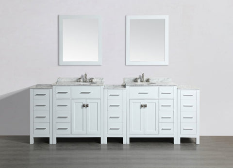 "Image of 100"" Bosconi SB-2LR2104WH3S Double Vanity"