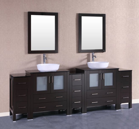 "Image of 96"" Bosconi AB230BWLBG3S Double Vanity"