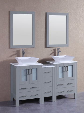 "Image of 60"" Bosconi AGR224S1S Double Vanity"