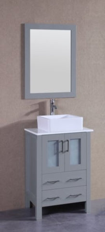 "Image of 24"" Bosconi AGR124CBEPS Single Vanity"
